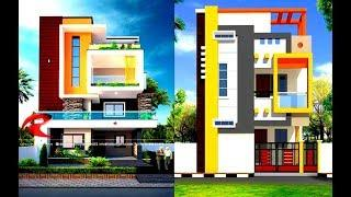 TOP 80 COLOUR COMBINATION FOR HOME EXTERIOR   House Front Elevation Designs 2019