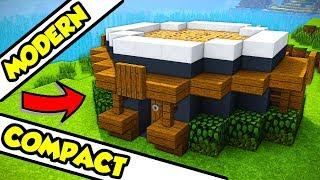 Minecraft Easy Modern Survival House Tutorial How To Build