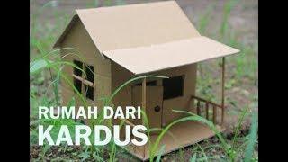 Tutorial Membuat Rumah KARDUS || how to make a cardboard house