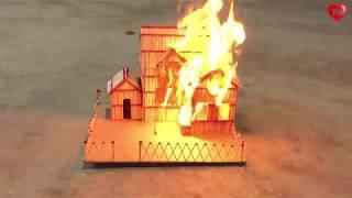 How to Make a Match House Fire at home - Match stick House Building