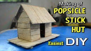 How to Make Popsicle Stick House for Kids | Easy & Simple Hut with ice cream stick