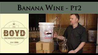 How to Make Banana Wine - Part 2