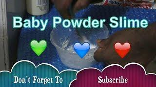 Baby powder slime !! how to make slime with baby powder !! ????Slime Videos