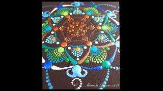 How to paint the Circle of Life Mandala ~ Dot Art by Miranda Pitrone ~ Mandala Stencil