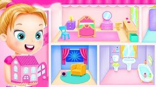 Fun Girl Care Cleanup Games - Doll House Cleanup & Decoration - Bedroom, Kitchen & Bath Designer