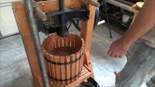 pressing grapes for winemaking with Happy Valley Ranch press