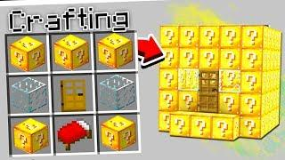 CRAFTING A LUCKY BLOCK HOUSE IN MINECRAFT!