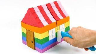 DIY Kinetic Sand Rainbow House! How to Make for KIDS