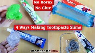 Testing 4 Ways To Make Slime From Toothpaste And Salt, No Glue, No Borax! No Fail