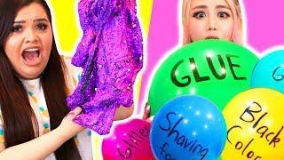 Mystery Slime Balloon Challenge with Karina Garcia!