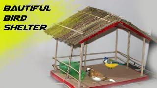 How to make bird's house, A beautiful shelter for birds. Bird feeder DIY ✔