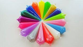 Making Slime With Piping Bags #2   Satisfy Channel