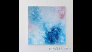 Expressive Abstract Art Painting, Blue Artwork, Large Wall Art