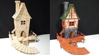 How to Make Witch House from Popsicle Stick