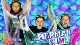 DIY GLITTER SLIME!  How to Make MAGICAL MERMAID SLIME with Sparkly Glitter!