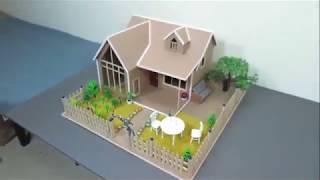 DIY - How To Make A Mansion House From Cardboard With Beautiful Fairy Garden Popsicle Stick Crafts