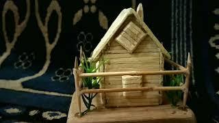 How to make a artificial house with matchsticks