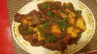 Rice Wine Marinated Pork with Mango Recipe