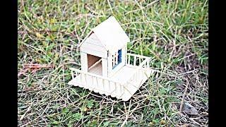 How to Make a Mini Cute House By using Popsicle Stick ! model nO 10  Art and craft ideas