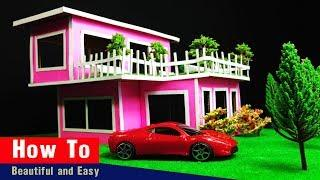 ✔How To Make A Miniature Beautiful [Modern House _ Dream Home] By Cardboard-Easy With Paper Project