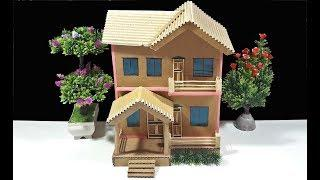 How to Make a Beautiful Mansion House With Cardboard-Diy Cardboard Mansion House
