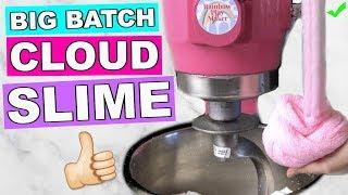BIG BATCH CLOUD SLIME TUTORIAL// HOW TO MAKE CLOUD SLIME IN A MIXER !