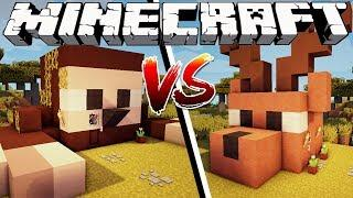 SLOTH HOUSE VS DEER HOUSE - Minecraft
