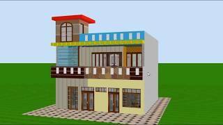 30x30 feet small space new home design with beautifu front elevation