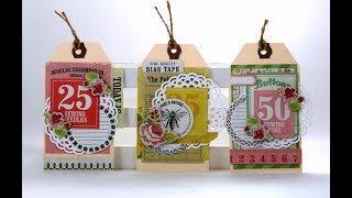 Vintage Tags Scrap Yo Stash Polly's Paper Studio Paper Craft DIY Easy Tutorial