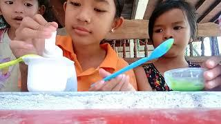 How to make milk slime Khmer