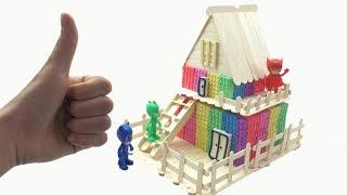 DIY How To Make Kinetic Sand Rainbow Stick House Learn Colors Nursery Rhymes Song Videos For Kids