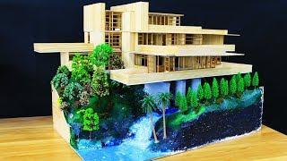 DIY Miniature House with Garden Stream - REALISTIC DIORAMAS