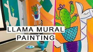 Large Llama Painting on WALL || Texas Art & Soul