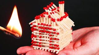 How to Make a Match House and Burn It