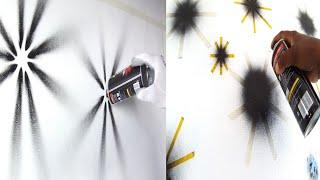 3 Wall Painting Ideas For Moonlight And Stars 3d Spray Paint Design