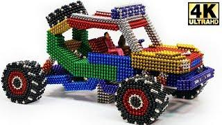 DIY - How To Make Terrain Car with Magnetic Balls (Magnet ASMR)   Magnetic Man 4K