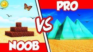 Minecraft - NOOB vs. PRO - DIAMOND PYRAMID vs DIRT PYRAMID