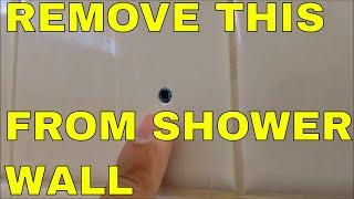 HOW TO REMOVE AND FILL WALL ANCHOR WALL IN SHOWER WALL