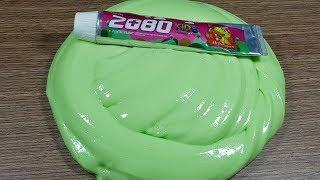 DIY Toothpaste Kids Fluffy Slime!! No Shaving Cream, No Glue, No Borax