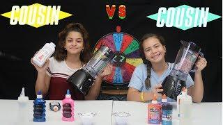 "MAKING SLIME IN A BLENDER   !""KEILLY AND ALISSON FROM SISTER FOREVER """