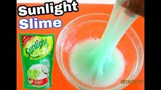 DIY Sunlight Slime Tutorial - Dish Sop Tutorial - How To Make Slime