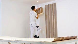 How to hang wallpaper with paper backing - Pasting the walls with Clearpro
