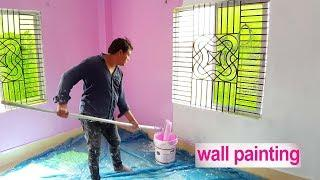 How to Paint a Wall By Roller Brush