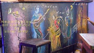 PapaPugu Painting the Walls ||ART of NIRU complete this week || Have i Ruin my walls ??confused ????
