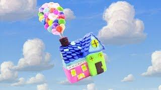 How To Make Disney Up Balloon House with PlayDoh - DIY Rainbow Up Balloon House PlayDoh for Kids