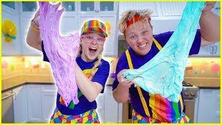 PiP and PoP Make SLIME!! *Huge FLUFFY SLIME!!*