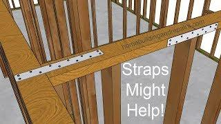 How To Make Single Top Plate Connection Stronger - Older House Framing Repairs