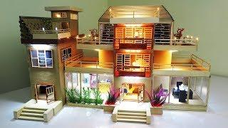 ????How To Make Beautiful Cardboard House With LED Lights – (Dream house) – Model 05
