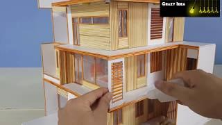How to make a Wooden Stick House villa | #Minigear