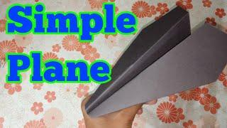 How to make simple Paper Airplane that fly far and straight - Easy, Simple, Basic Plane | Plane#1